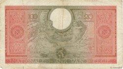 100 Francs - 20 Belgas BELGIQUE  1943 P.123 B