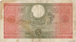 100 Francs - 20 Belgas BELGIQUE  1943 P.123 TB