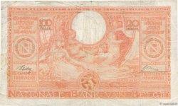 100 Francs - 20 Belgas BELGIQUE  1944 P.113 B