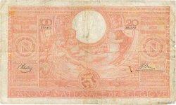 100 Francs - 20 Belgas BELGIQUE  1944 P.114 B