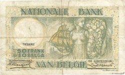 50 Francs - 10 Belgas BELGIQUE  1935 P.101 TB