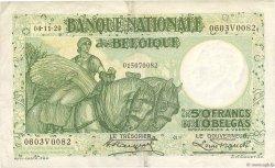 50 Francs - 10 Belgas BELGIQUE  1929 P.101 TTB