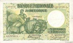 50 Francs - 10 Belgas BELGIQUE  1932 P.101 TTB