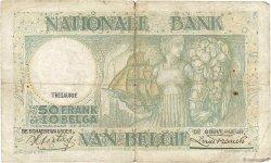 50 Francs - 10 Belgas BELGIQUE  1937 P.106 B