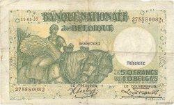50 Francs - 10 Belgas BELGIQUE  1937 P.106 TB