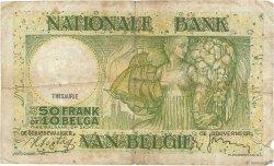 50 Francs - 10 Belgas BELGIQUE  1938 P.106 B