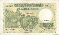 50 Francs - 10 Belgas BELGIQUE  1938 P.106 TTB