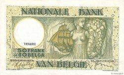 50 Francs - 10 Belgas BELGIQUE  1938 P.106 TTB+