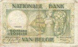 50 Francs - 10 Belgas BELGIQUE  1942 P.106 B