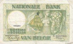 50 Francs - 10 Belgas BELGIQUE  1942 P.106 TB