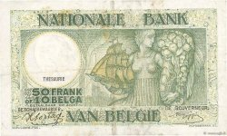 50 Francs - 10 Belgas BELGIQUE  1942 P.106 TTB