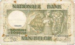 50 Francs - 10 Belgas BELGIQUE  1944 P.106 TB