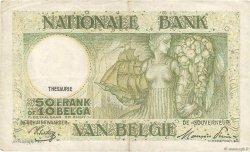 50 Francs - 10 Belgas BELGIQUE  1944 P.106 TTB