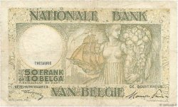 50 Francs - 10 Belgas BELGIQUE  1947 P.106 TB
