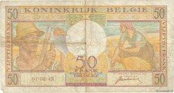 50 Francs BELGIQUE  1948 P.133a B
