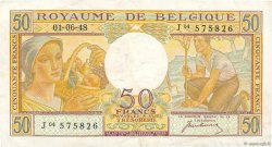 50 Francs BELGIQUE  1948 P.133a TTB