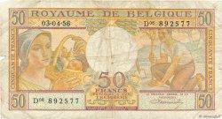 50 Francs BELGIQUE  1956 P.133b B