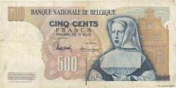 500 Francs BELGIQUE  1963 P.135a B