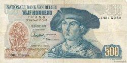 500 Francs BELGIQUE  1963 P.135a TB