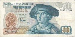 500 Francs BELGIQUE  1963 P.135a TTB