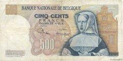 500 Francs BELGIQUE  1968 P.135a TB