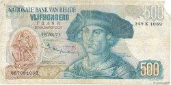 500 Francs BELGIQUE  1971 P.135b TB