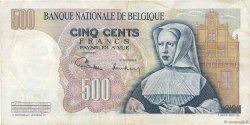 500 Francs BELGIQUE  1971 P.135b TTB