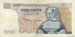 500 Francs BELGIQUE  1975 P.135b TB