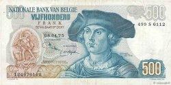 500 Francs BELGIQUE  1975 P.135b TTB