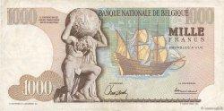 1000 Francs BELGIQUE  1966 P.136a TTB