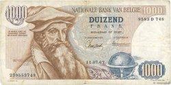 1000 Francs BELGIQUE  1967 P.136a TB