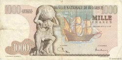 1000 Francs BELGIQUE  1973 P.136b TB