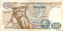 1000 Francs BELGIQUE  1975 P.136b TB