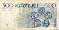 500 Francs BELGIQUE  1982 P.143a TB