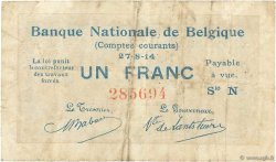 1 Franc BELGIQUE  1914 P.081 TB