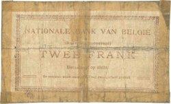 2 Francs BELGIQUE  1914 P.082 AB