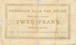 2 Francs BELGIQUE  1914 P.082 pr.TB