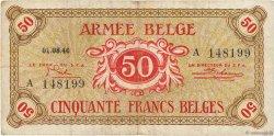 50 Francs BELGIQUE  1946 P.M6a TB
