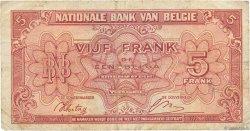 5 Francs BELGIQUE  1943 P.121 B