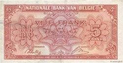 5 Francs BELGIQUE  1943 P.121 TTB