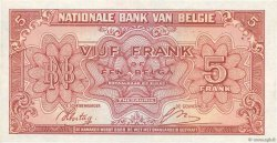 5 Francs BELGIQUE  1943 P.121 SUP