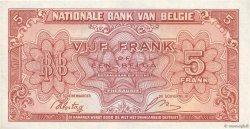 5 Francs BELGIQUE  1943 P.121 pr.NEUF