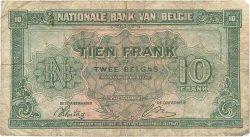 10 Francs BELGIQUE  1943 P.122 B