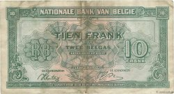 10 Francs BELGIQUE  1943 P.122 TTB