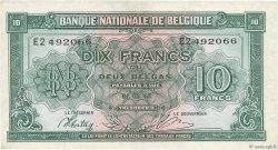 10 Francs BELGIQUE  1943 P.122 SUP