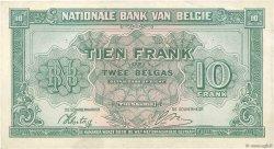 10 Francs - 2 Belgas BELGIQUE  1943 P.122 SPL