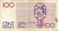 100 Francs BELGIQUE  1982 P.142a TB