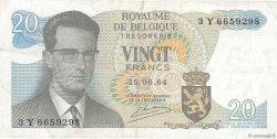 20 Francs BELGIQUE  1964 P.138 TTB