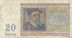 20 Francs BELGIQUE  1950 P.132a TB