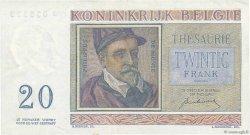 20 Francs BELGIQUE  1950 P.132a TTB